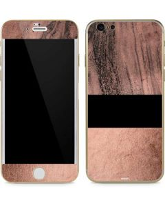 Rose Gold and Black Marble iPhone 6/6s Skin