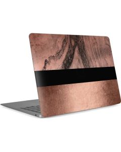 Rose Gold and Black Marble Apple MacBook Air Skin