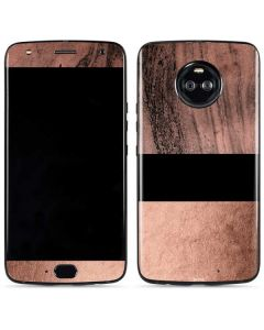 Rose Gold and Black Marble Moto X4 Skin