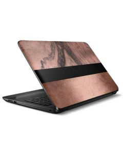Rose Gold and Black Marble HP Notebook Skin
