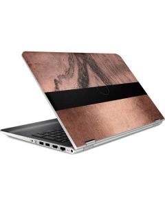 Rose Gold and Black Marble HP Pavilion Skin