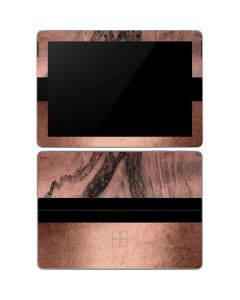 Rose Gold and Black Marble Surface Go Skin
