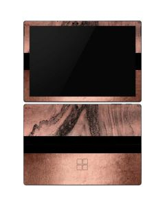 Rose Gold and Black Marble Surface Pro 6 Skin