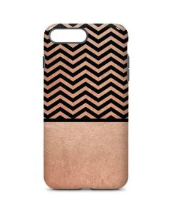 Rose Gold Chevron Split iPhone 8 Plus Pro Case