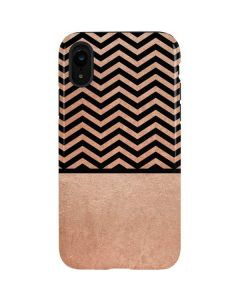 Rose Gold Chevron Split iPhone XR Pro Case