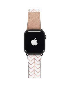 Rose Gold Herringbone Apple Watch Band 42-44mm
