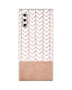 Rose Gold Herringbone Galaxy Note 10 Skin