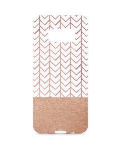 Rose Gold Herringbone Galaxy S8 Plus Lite Case
