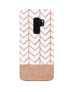 Rose Gold Herringbone Galaxy S9 Plus Lite Case