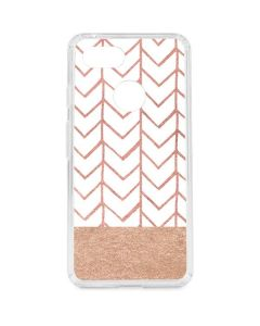 Rose Gold Herringbone Google Pixel 3 Clear Case