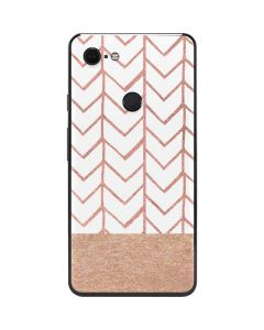Rose Gold Herringbone Google Pixel 3 XL Skin