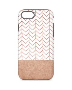 Rose Gold Herringbone iPhone 8 Pro Case