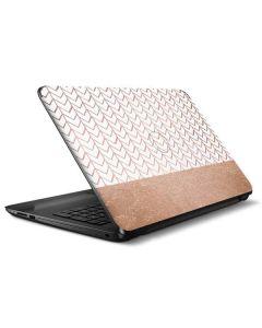 Rose Gold Herringbone HP Notebook Skin