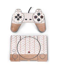 Rose Gold Herringbone PlayStation Classic Bundle Skin