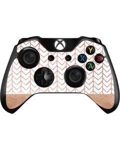 Rose Gold Herringbone Xbox One Controller Skin