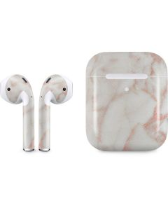 Rose Gold Marble Apple AirPods 2 Skin