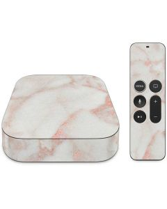 Rose Gold Marble Apple TV Skin
