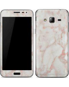 Rose Gold Marble Galaxy J3 Skin