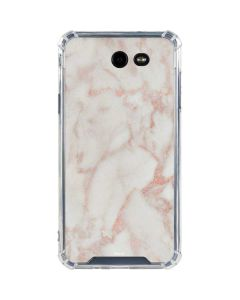 Rose Gold Marble Galaxy J7 (2017) Clear Case