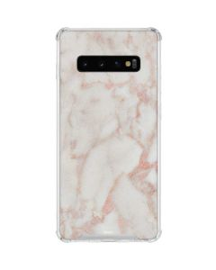 Rose Gold Marble Galaxy S10 Clear Case