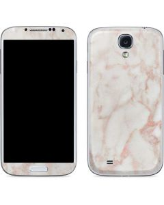 Rose Gold Marble Galaxy S4 Skin