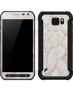 Rose Gold Marble Galaxy S6 Active Skin