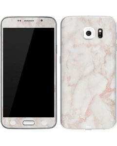 Rose Gold Marble Galaxy S6 Skin