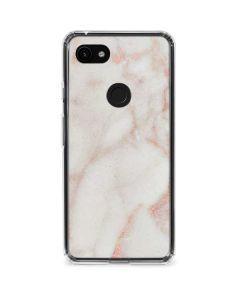Rose Gold Marble Google Pixel 3a Clear Case