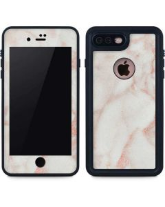 Rose Gold Marble iPhone 7 Plus Waterproof Case