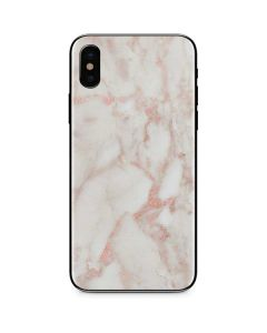 Rose Gold Marble iPhone X Skin