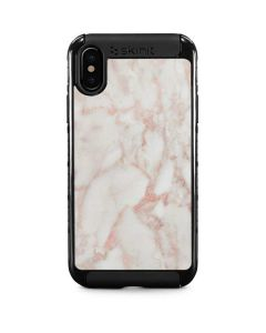 Rose Gold Marble iPhone XS Cargo Case