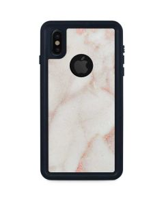 Rose Gold Marble iPhone XS Waterproof Case