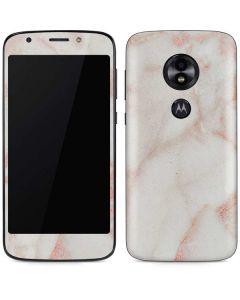 Rose Gold Marble Moto E5 Play Skin