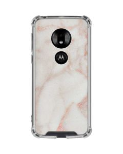 Rose Gold Marble Moto G7 Play Clear Case