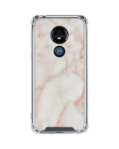 Rose Gold Marble Moto G7 Power Clear Case
