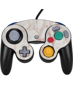 Rose Gold Marble Nintendo GameCube Controller Skin