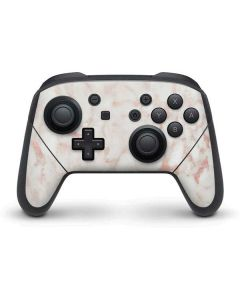 Rose Gold Marble Nintendo Switch Pro Controller Skin