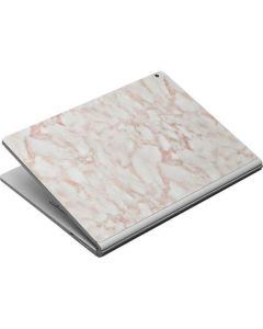 Rose Gold Marble Surface Book Skin