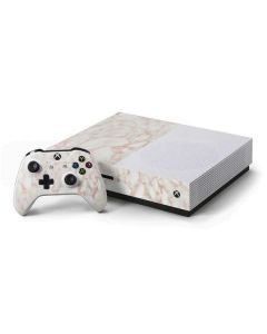 Rose Gold Marble Xbox One S Console and Controller Bundle Skin