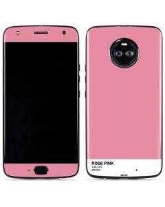 Rose Pink Moto X4 Skin