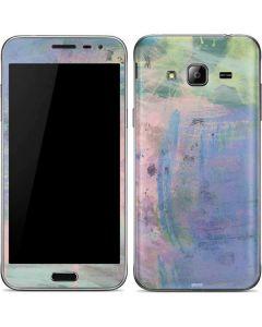 Rose Quartz & Serenity Abstract Galaxy J3 Skin