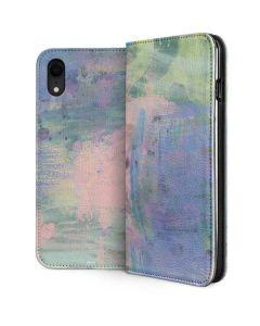 Rose Quartz & Serenity Abstract iPhone XR Folio Case