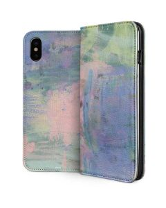 Rose Quartz & Serenity Abstract iPhone XS Max Folio Case