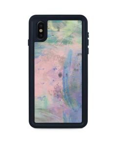 Rose Quartz & Serenity Abstract iPhone XS Max Waterproof Case