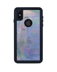 Rose Quartz & Serenity Abstract iPhone XS Waterproof Case