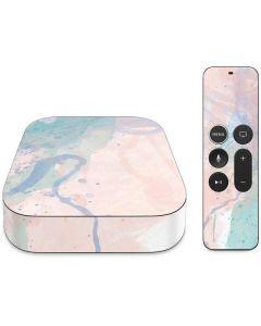 Rose Quartz & Serenity Splatter Apple TV Skin