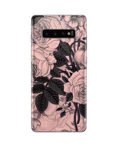 Rose Quartz Floral Galaxy S10 Plus Skin
