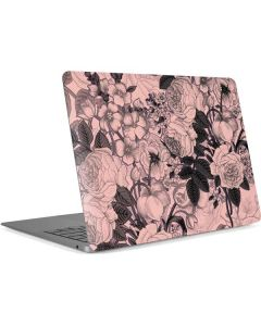 Rose Quartz Floral Apple MacBook Air Skin