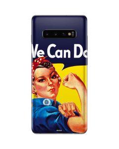 Rosie The Riveter Vintage War Poster Galaxy S10 Plus Skin