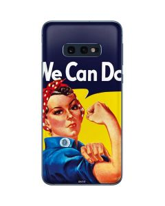 Rosie The Riveter Vintage War Poster Galaxy S10e Skin